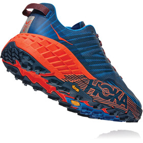 Hoka One One Speedgoat 4 Shoes Men, majolica blue/mandarin red